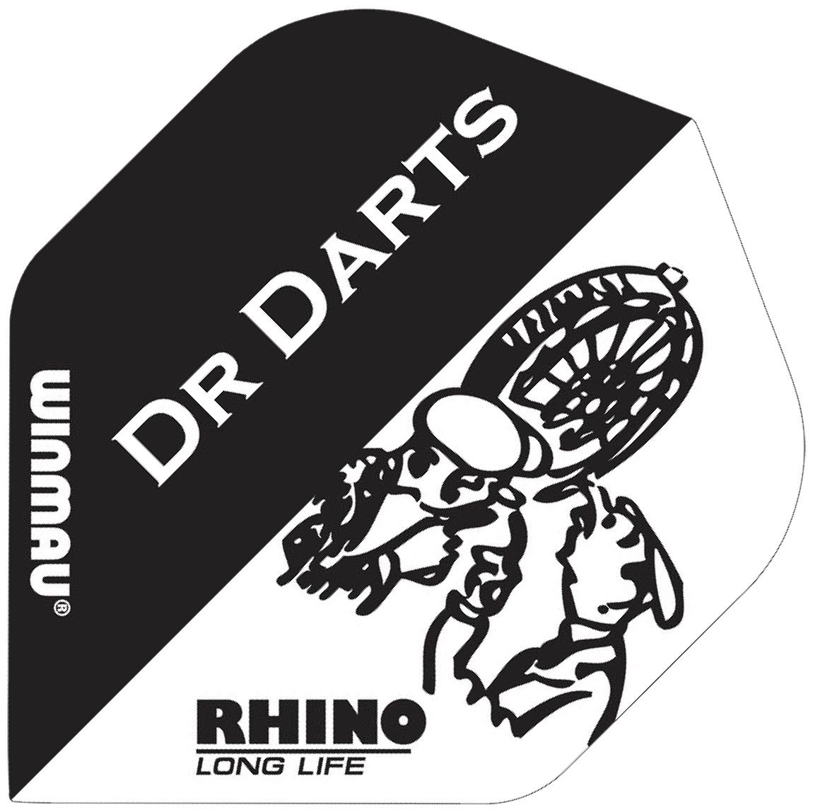 Winmau Rhino Standard Extra Thick Black & White Dr Darts