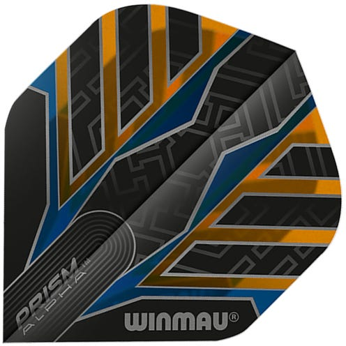 Winmau Prism Alpha Black & Orange