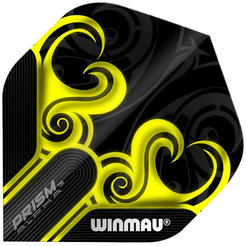 Winmau Prism Alpha Black & Yellow
