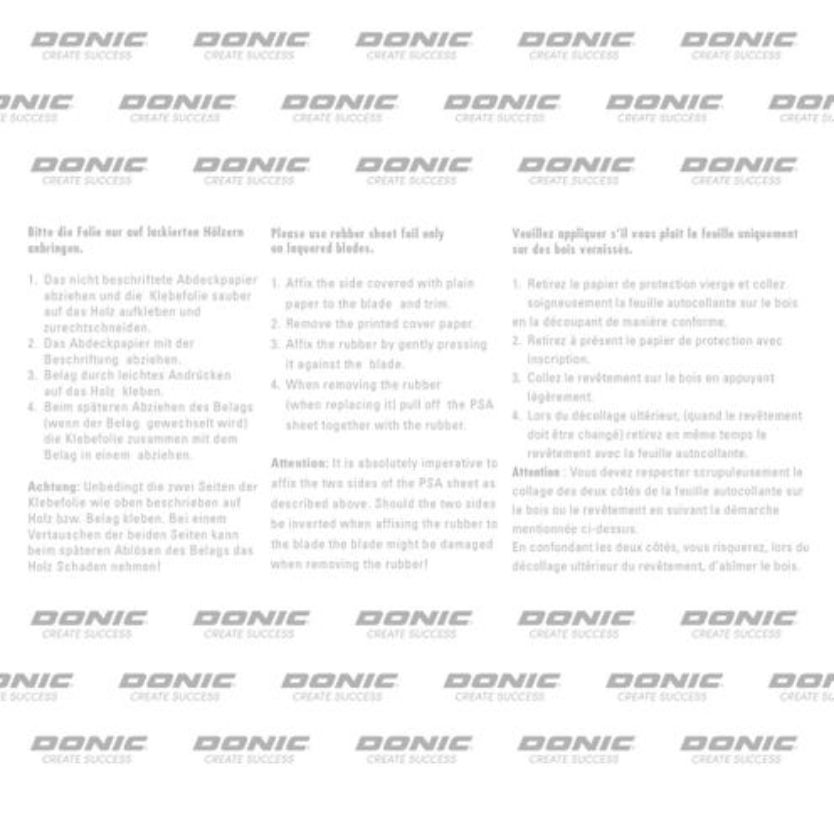 Donic Glue Sheet