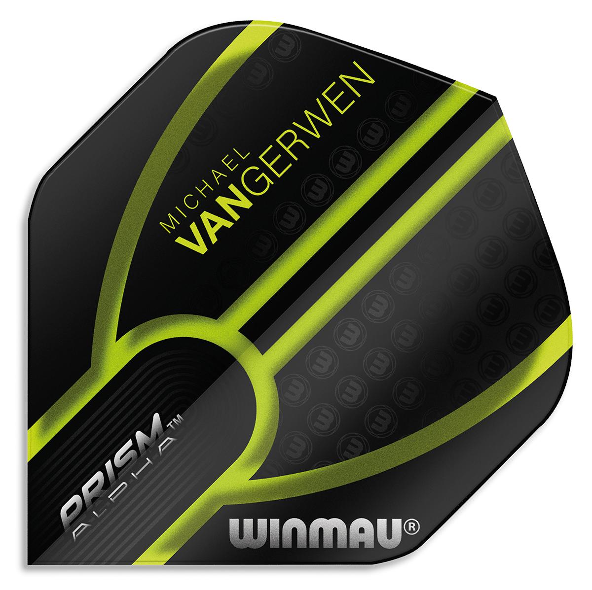 Winmau Prism Alpha MvG Black/Green II